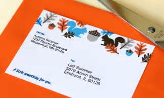 Cards Addressed And Mailed - squirrel mailing labels going home to roost