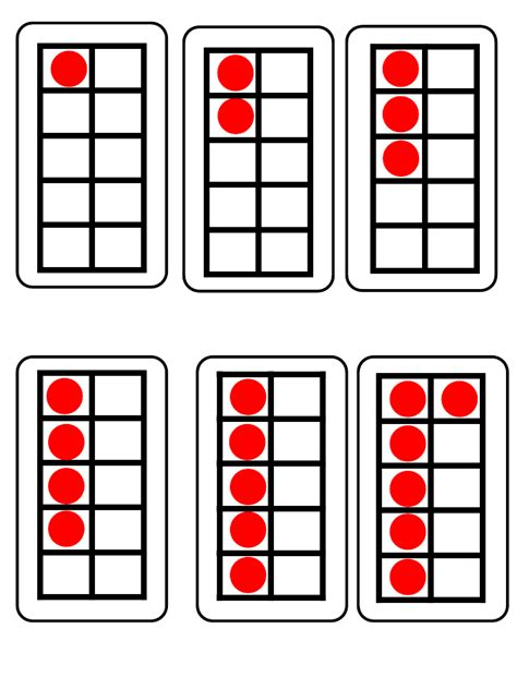 five frame subitising ten frames k math activities pinterest