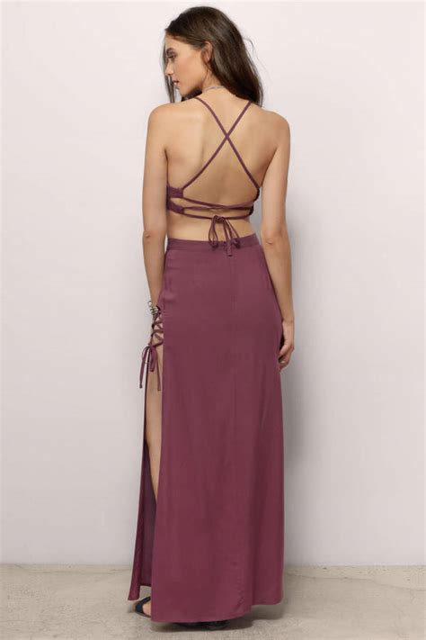 Dress Maxi Set trendy plum maxi dress slit dress plum dress maxi