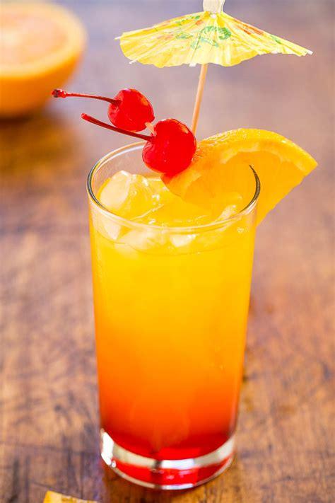 tequila sunrise classic cocktail averiecooks com