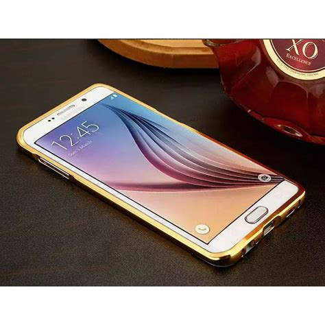 Hardcase Bumper Mirror Samsung S7 Edge Casing Cover aluminium bumper hardcase with mirror back cover for samsung galaxy s7 edge golden