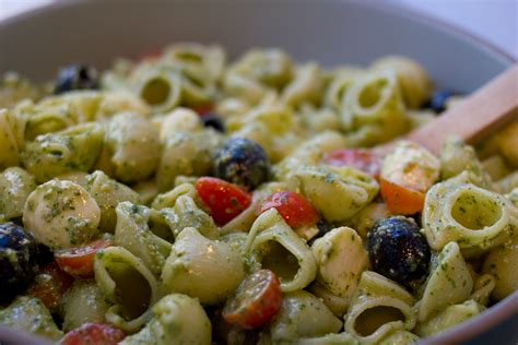 pesto pasta salad recipe pesto pasta salad recipe dishmaps