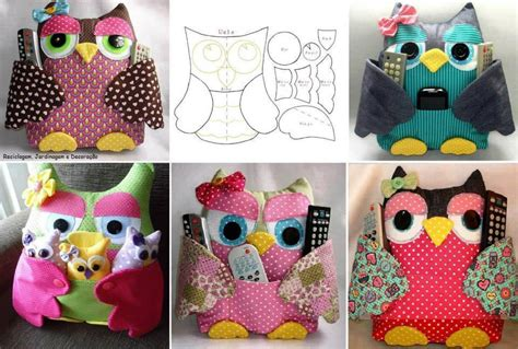 Pattern For Owl Remote Holder | tv remote owl pillow pattern diy cozy home