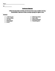 earthworm dissection lab analysis and conclusion questions earthworm dissection worksheet and link to