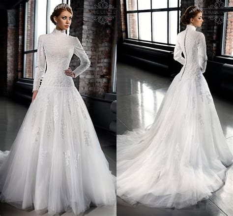 Discount Modest Wedding Dresses by Discount New Designer Modest Wedding Dresses With Sleeves