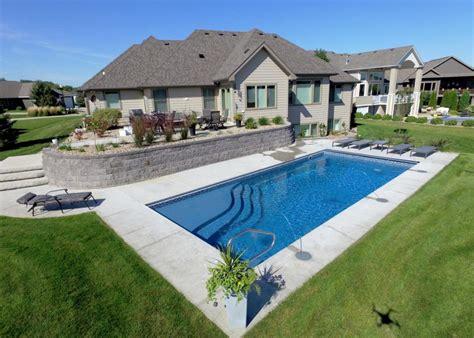 fiberglass pools rectangle shapes designer pools