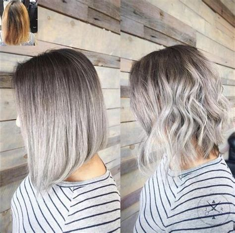 mid length grey hair 20 trendy gray hairstyles gray hair trend balayage