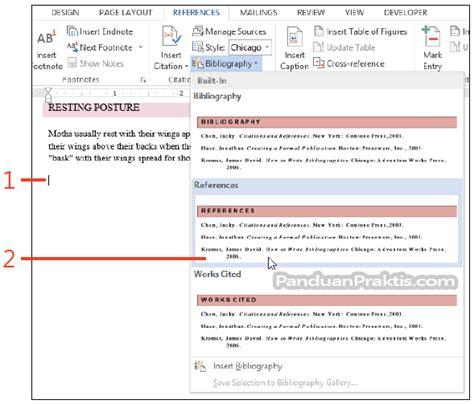 membuat daftar gambar di word 2013 cara membuat kutipan citation dan daftar pustaka