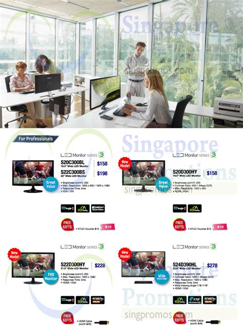 Samsung Led Monitor S20d300hy led monitors for professionals s20c300bl s20d300hy s22d300hy s24d390hl 187 samsung monitors
