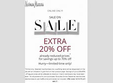 Neiman Marcus Extra 20% off Sale Items ONLINE ONLY ... Neiman Marcus Sale