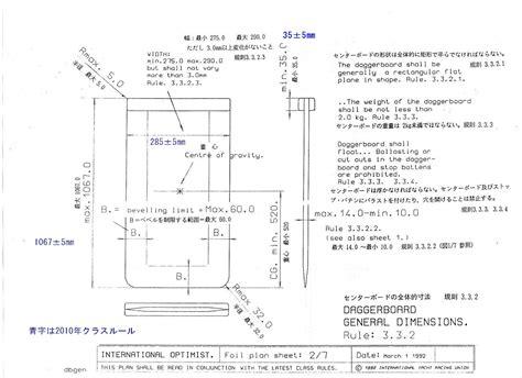optimist zeilboot afmetingen joda 日本op協会 クラスルール計測委員会 公式図面集