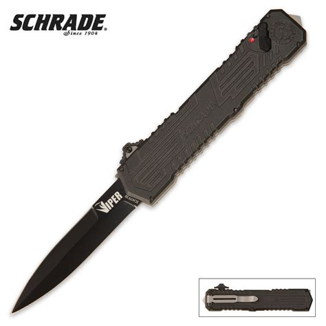 knife assisted opening schrade viper otf assisted opening pocket knife dagger