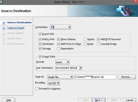 Sql Programmer Description by How To Import Export Sql In Sql Developer Database Administrators Stack Exchange