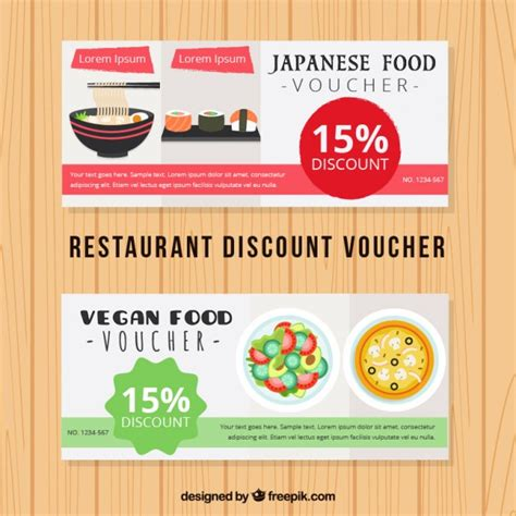 discount food japanese food discount voucher vector free