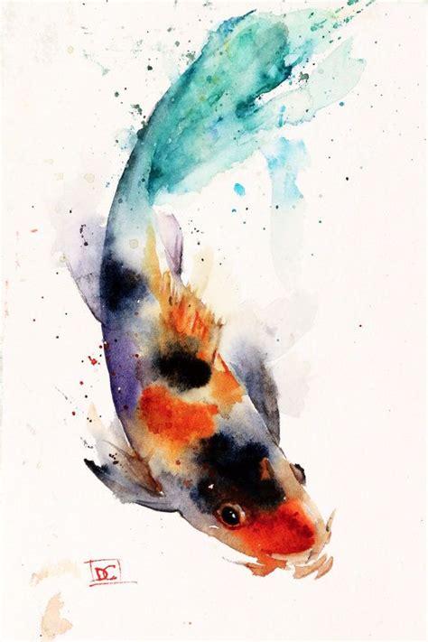 koi fish watercolor paintings koi watercolor fish print koi art koi painting by dean
