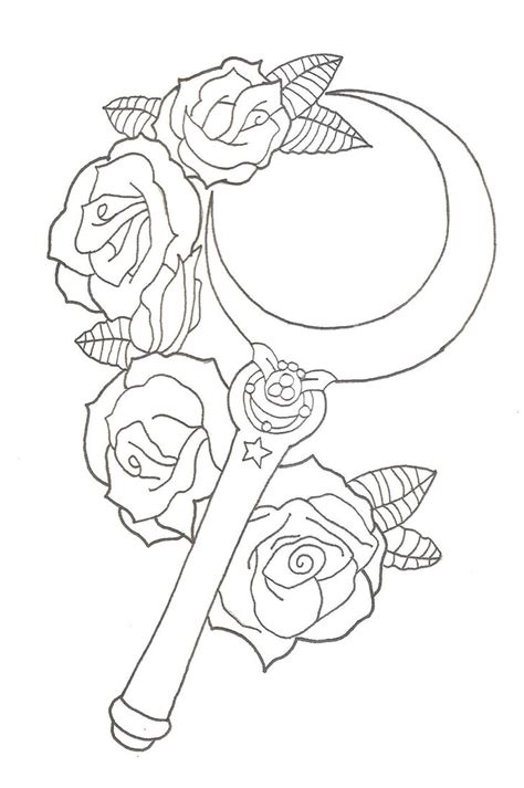 sailor moon moon stick tattoo design by xxzombieprincexx