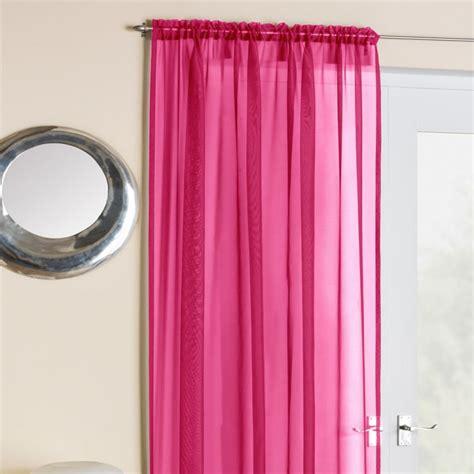 tony s curtains cerise pink voile net curtain panel tony s textiles