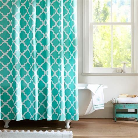 pool curtains lucky clover shower curtain pool color crush blue