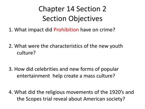 chapter 14 section 2 ppt chapter 14 section 2 section objectives powerpoint