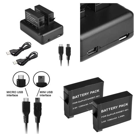 Travel Charger Li Ion Dual Usb 21a 1a Micro Usb 2 x ahdbt 401 decoded battery usb dual charger for gopro 4 go pro 4 uk ebay