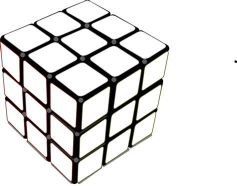Rubik Infinity Cube Black Or White rubiks cube white clip at clker vector clip royalty free domain