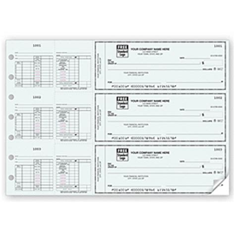 Office Depot View Paycheck Business Checks 3 On A Page Salary Payroll Check