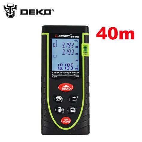 Laser Distance Meter 40 M Meteran Laser Digital 40m aliexpress buy deko sw m40 0 05 40m digital laser