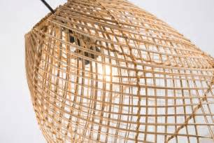 Wicker Pendant Light Coco Wicker Weaved Pendant Light April Oak