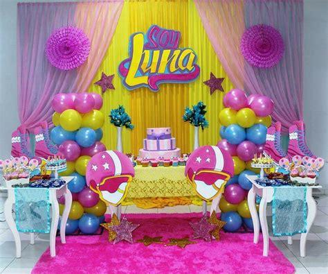imagenes de fiestas de soy luna pared soy luna con tul decoraci 243 n de globos pinterest