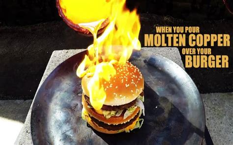What Happened To Backyard Burger See How Well A Big Mac Stands Up To Molten Copper How S