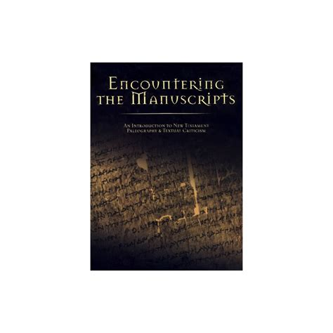 a new approach to textual criticism an introduction to the coherence based genealogical method resources for biblical study 80 books encountering the manuscripts an introduction to new