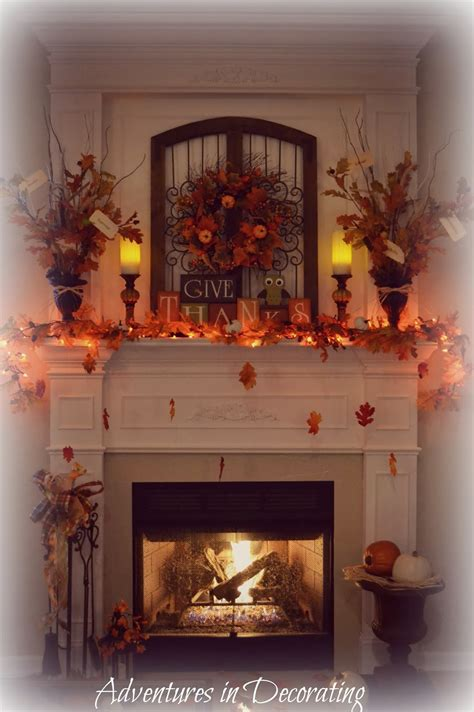 fall mantel decor adventures in decorating our fall mantel