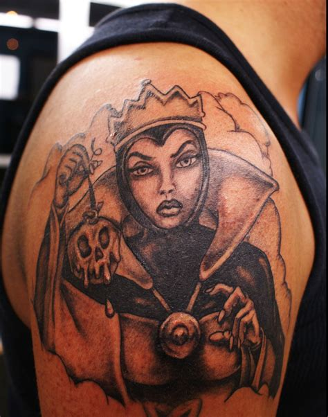 tattoo evil queen filmic light snow white archive evil queen old hag