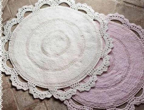 tappeti shabby chic tappeti bagno crochet una magia shabby chic paperblog