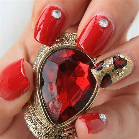 imágenes de uñas rojas con dorado cautivadoras imagenes de u 241 as acrilicas rojas decoradas