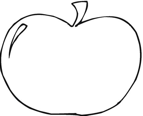 apple coloring pages free large images