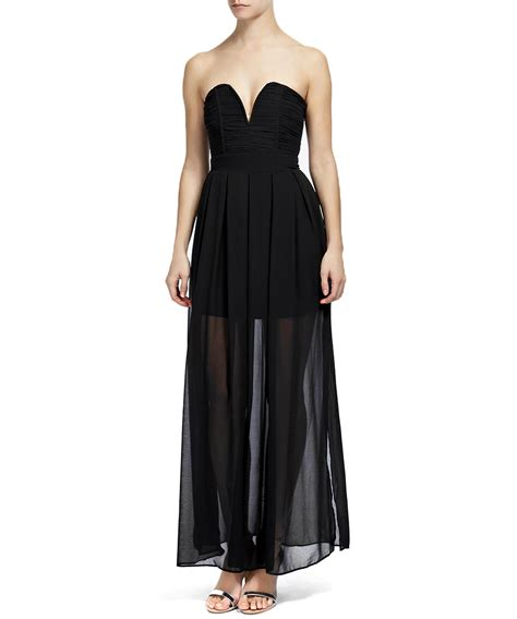 Maxi Dress Promo Sale secretsales discount designer clothes sale nelle black strapless maxi dress