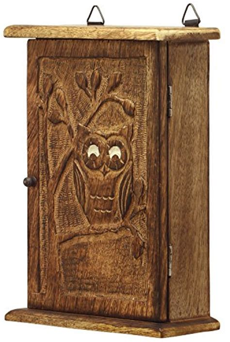 decorative wall mounted key cabinet premium quality wooden vintage look wall mount owl key