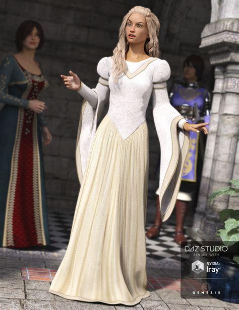 Dress Princes 2 princess dress for genesis 3 s 3d