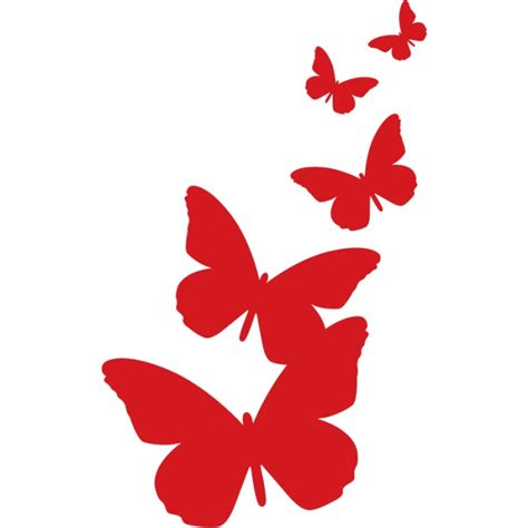 Kitchen Wall Colour Ideas by Digidecor Butterflies Silhouette Wall Art