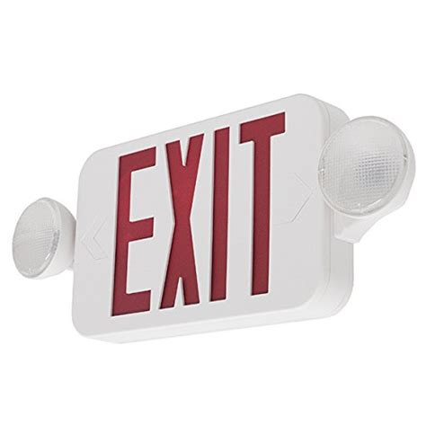 Lu Emergency Combo Bulb lfi lights compact combo exit sign emergency egress light comborjr bulbs fittings ideas