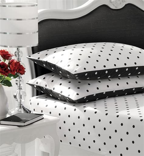 Black And White Bed Sheets by Unique Black And White Polka Dot Sheets Homesfeed