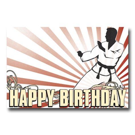 karate birthday postcard martial arts birthday cards karate birthday card