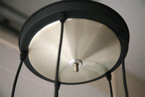 1960s aluminium ceiling light and chrome
