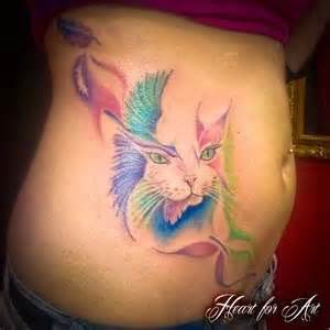 cat tattoo with butterfly cat bird and butterfly tattoo tattoo designs tattoo