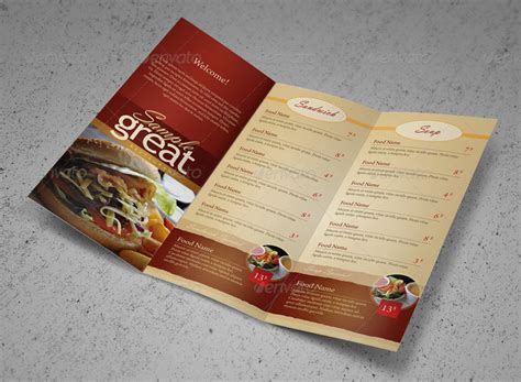 to go menu template restaurant cafe take out menu template by kinzi21