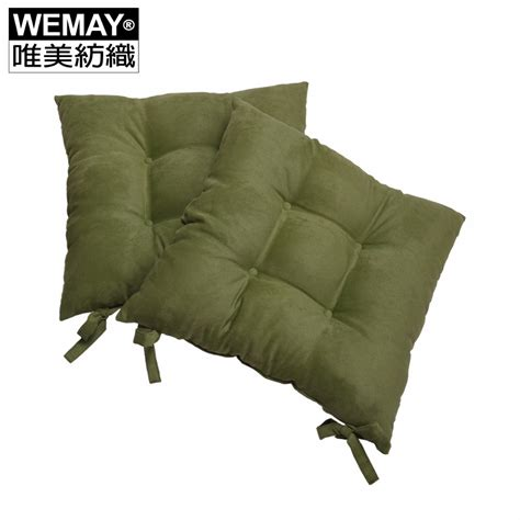 decorative seat cushions square solid seat cushion polyester green soft back