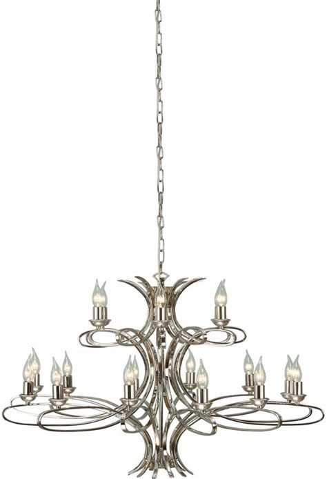 polished nickel chandeliers penn contemporary 18 light large polished nickel