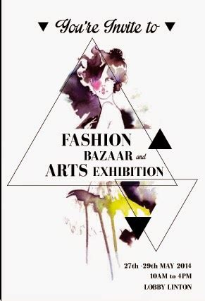 invitation card design for exhibition evelyn s design task 4 fashion bazaar and art exhibition