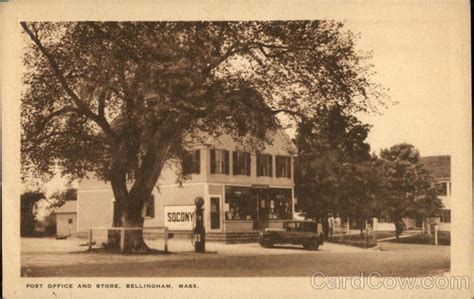 Post Office Bellingham by Post Office And Store Bellingham Ma Postcard